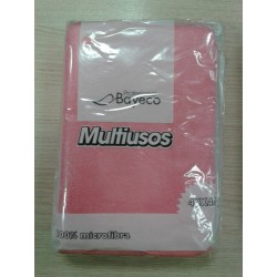 BAYETA CARLIM'S ROSA MICROFIBRA MULTIUSOS 5 UD.
