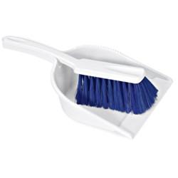 Recogedor con Cepillo de Mano Azul Homologado Alimentario