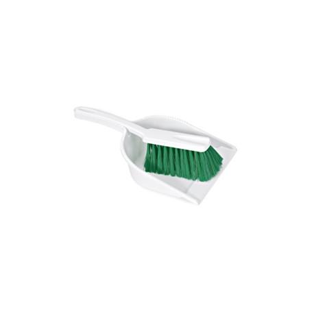 Recogedor con Cepillo de Mano Verde Homologado Alimentario