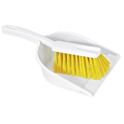 ecogedor con Cepillo de Mano Amarillo Homologado Alimentario.
