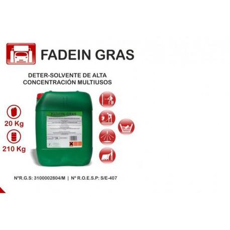 FADEIN GRAS DETERSOLVENTE CONCENTRADO 20 L.
