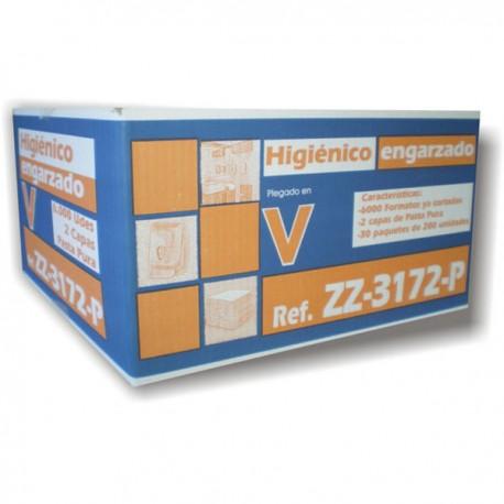 PAPEL HIG.PLEGADO ZZ-3172-P 2C PASTA 6000 UD.