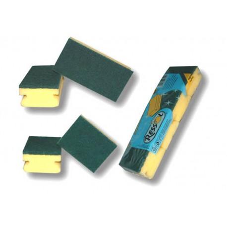 ESTROPAJO C/ESPONJA CARLIM'S 10X15  6 UN. EC-100