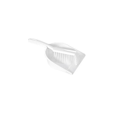 Recogedor con Cepillo de Mano Blanco Homologado Alimentario